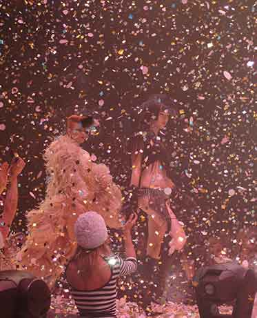 confetti and streamers effects